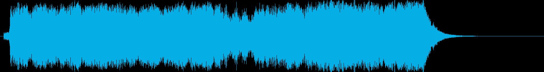 華やかなファンファーレ、吹奏楽で20秒!の再生済みの波形
