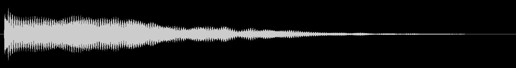 シンプルなクイズヒット、早押しボタンの未再生の波形