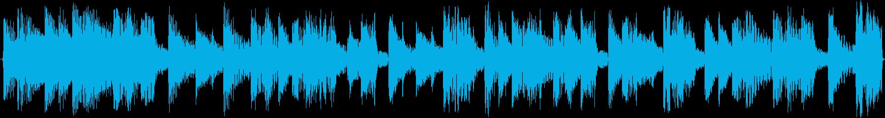 リズミカルなループテクノの再生済みの波形