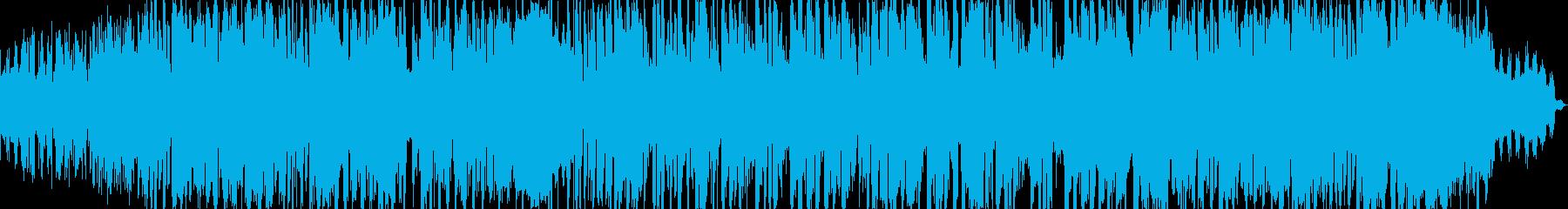 ハウス調のポップなお子様向け娯楽曲の再生済みの波形