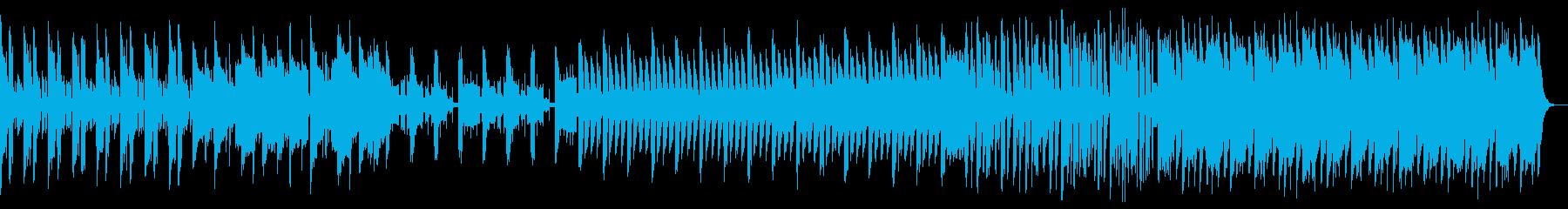 炭酸飲料をイメージしたシンセリードBGMの再生済みの波形