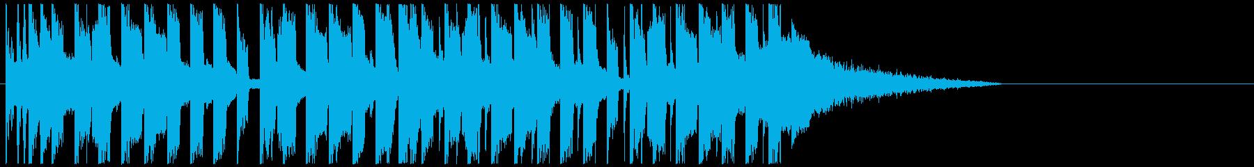 かっこよすぎるEDM ジングルの再生済みの波形
