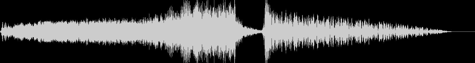 ホラースプラッター映画タイトルロゴの未再生の波形