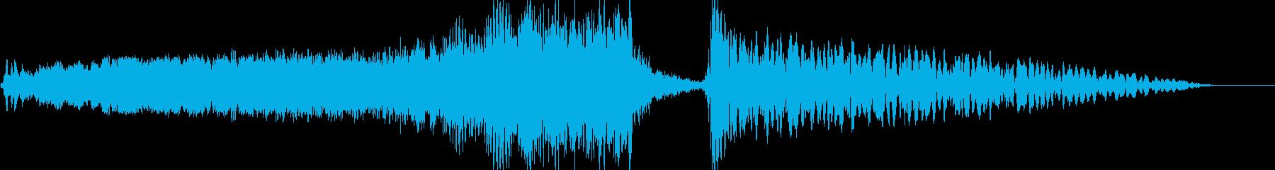 ホラースプラッター映画タイトルロゴの再生済みの波形