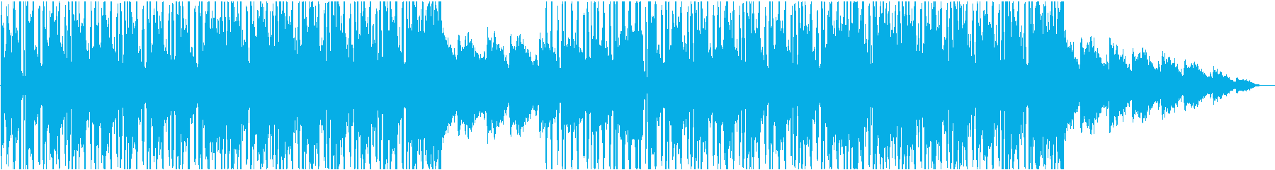 スローアーバンヒップホップの再生済みの波形