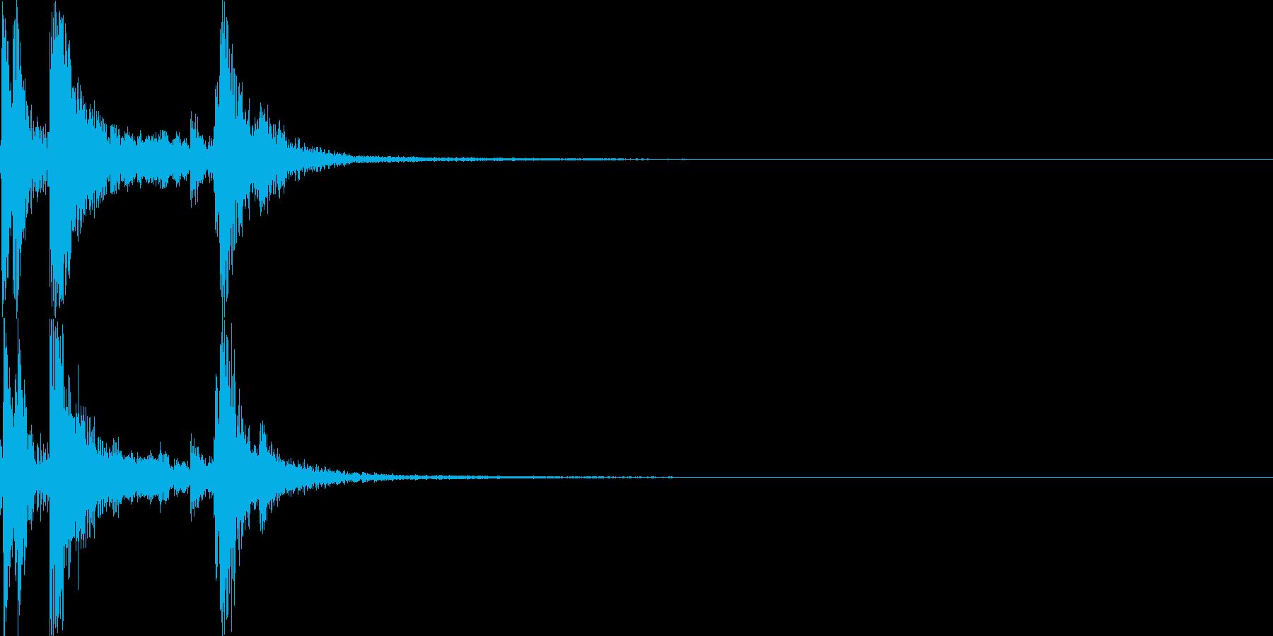 カラン(ダイアログ開く)の再生済みの波形