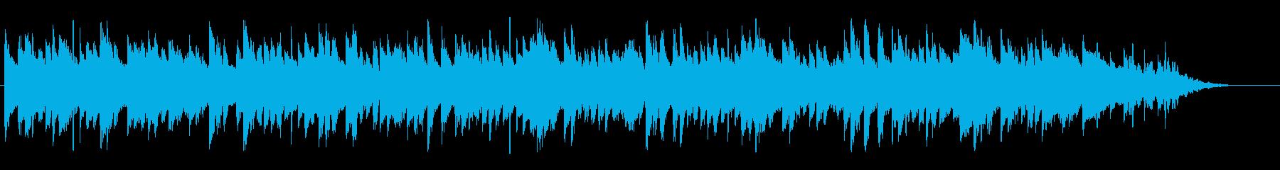 陽気で明るいコミカルな曲の再生済みの波形