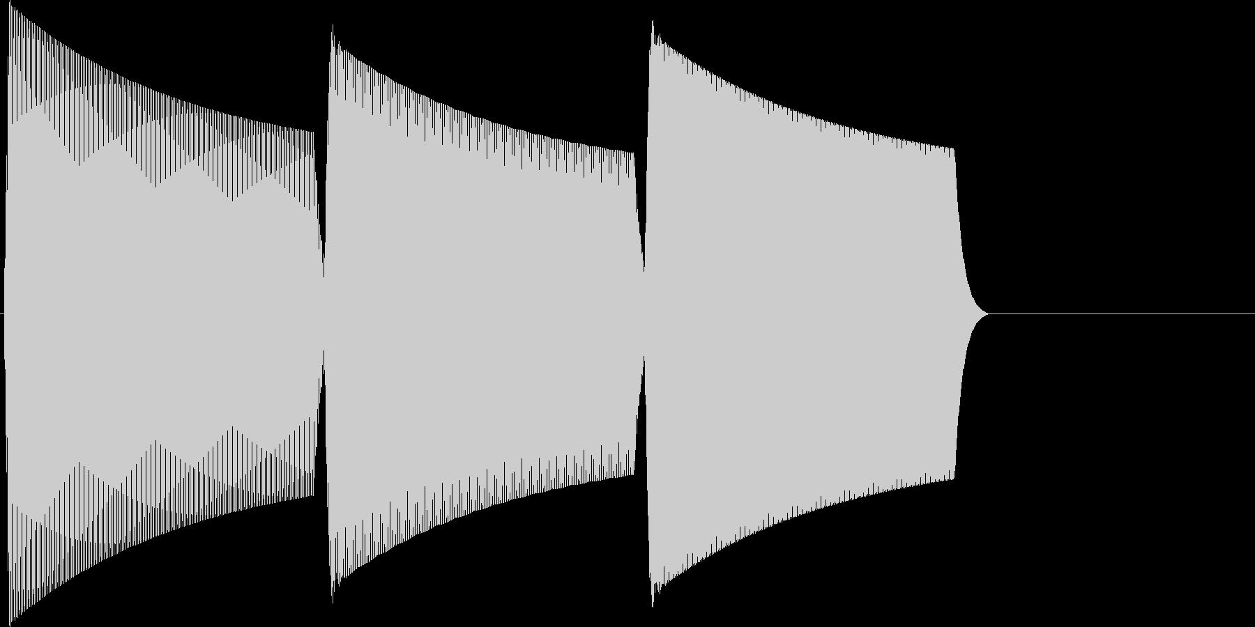 ピコラーン(click_003_決定)の未再生の波形
