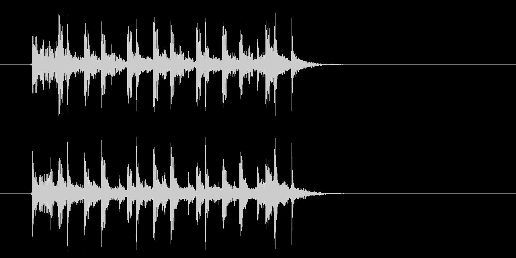 幻想的なアップテンポなテクノ音楽の未再生の波形