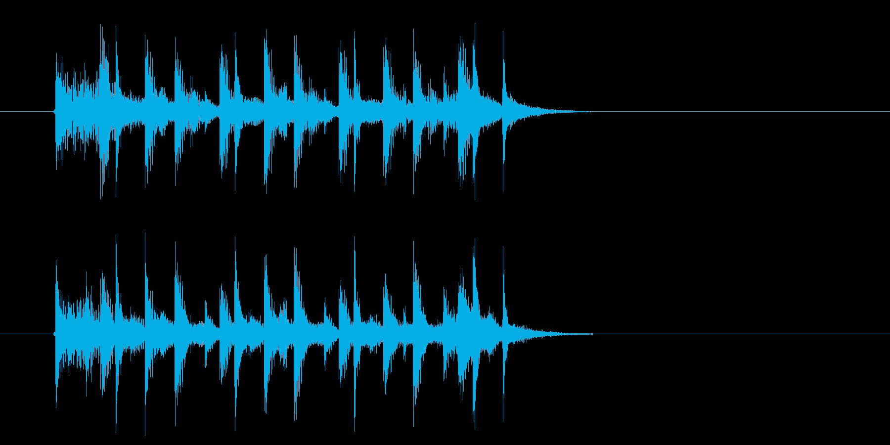 幻想的なアップテンポなテクノ音楽の再生済みの波形