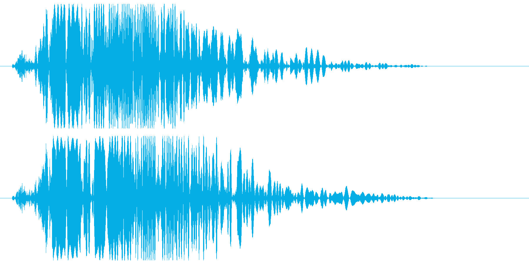 ボコッ (強めの打撃音)の再生済みの波形