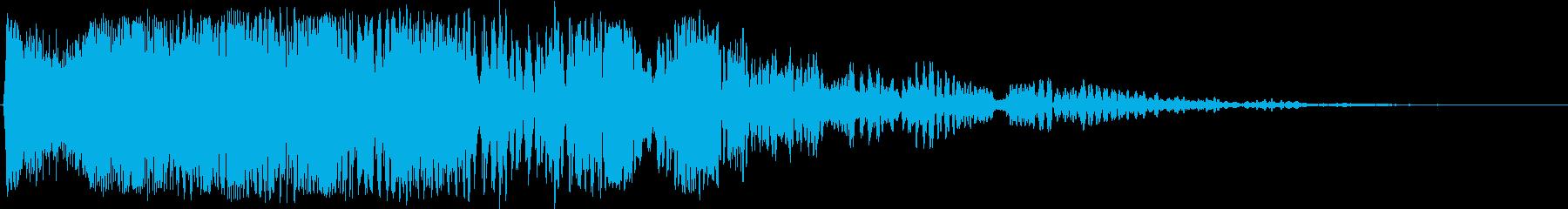 波打つトレイルを持つ奇妙な電子レー...の再生済みの波形