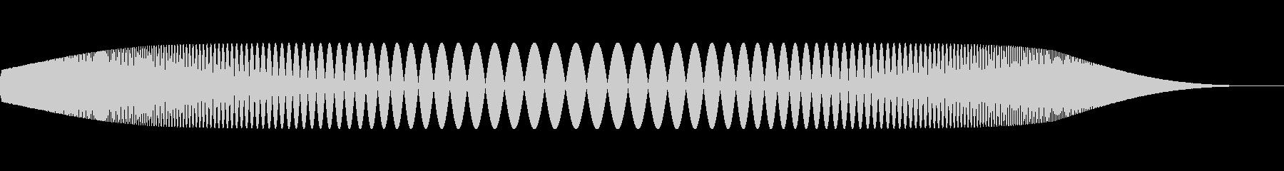 プニュ(柔らかいものを触ったような音)の未再生の波形