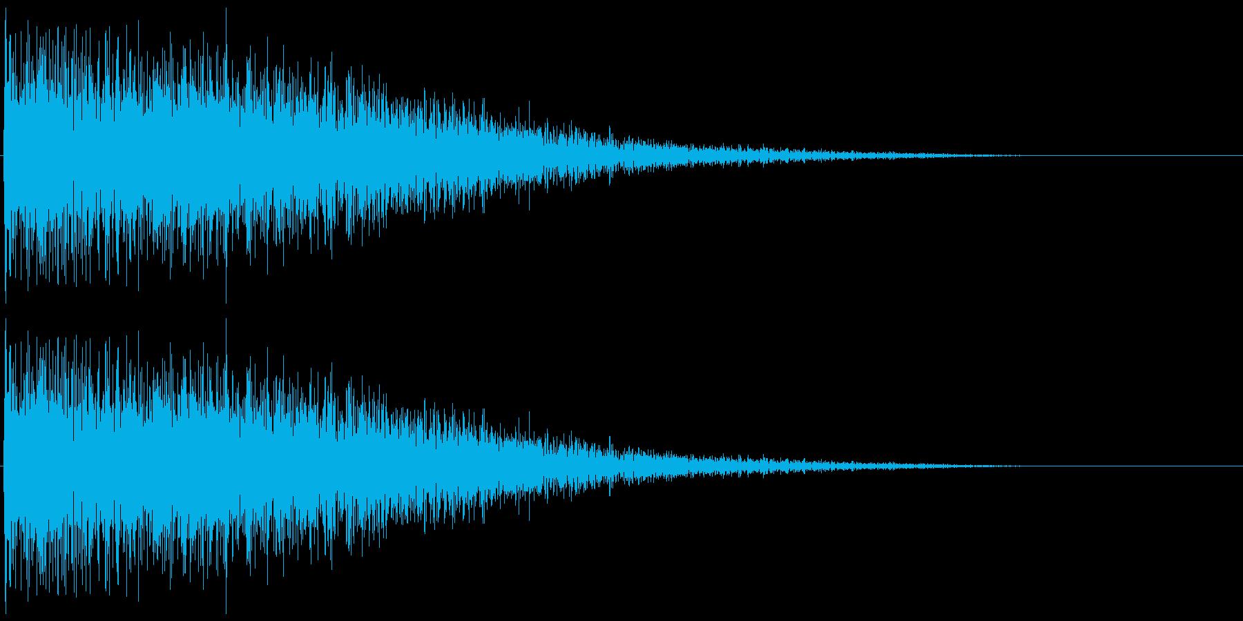 昭和の特撮にありそうな衝撃音(パーン)の再生済みの波形