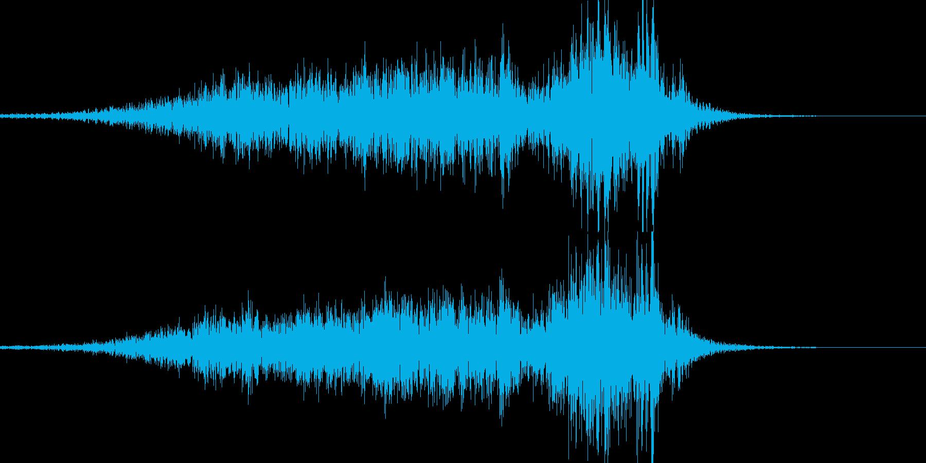 【抜刀】刀や剣を鞘から抜く音04の再生済みの波形
