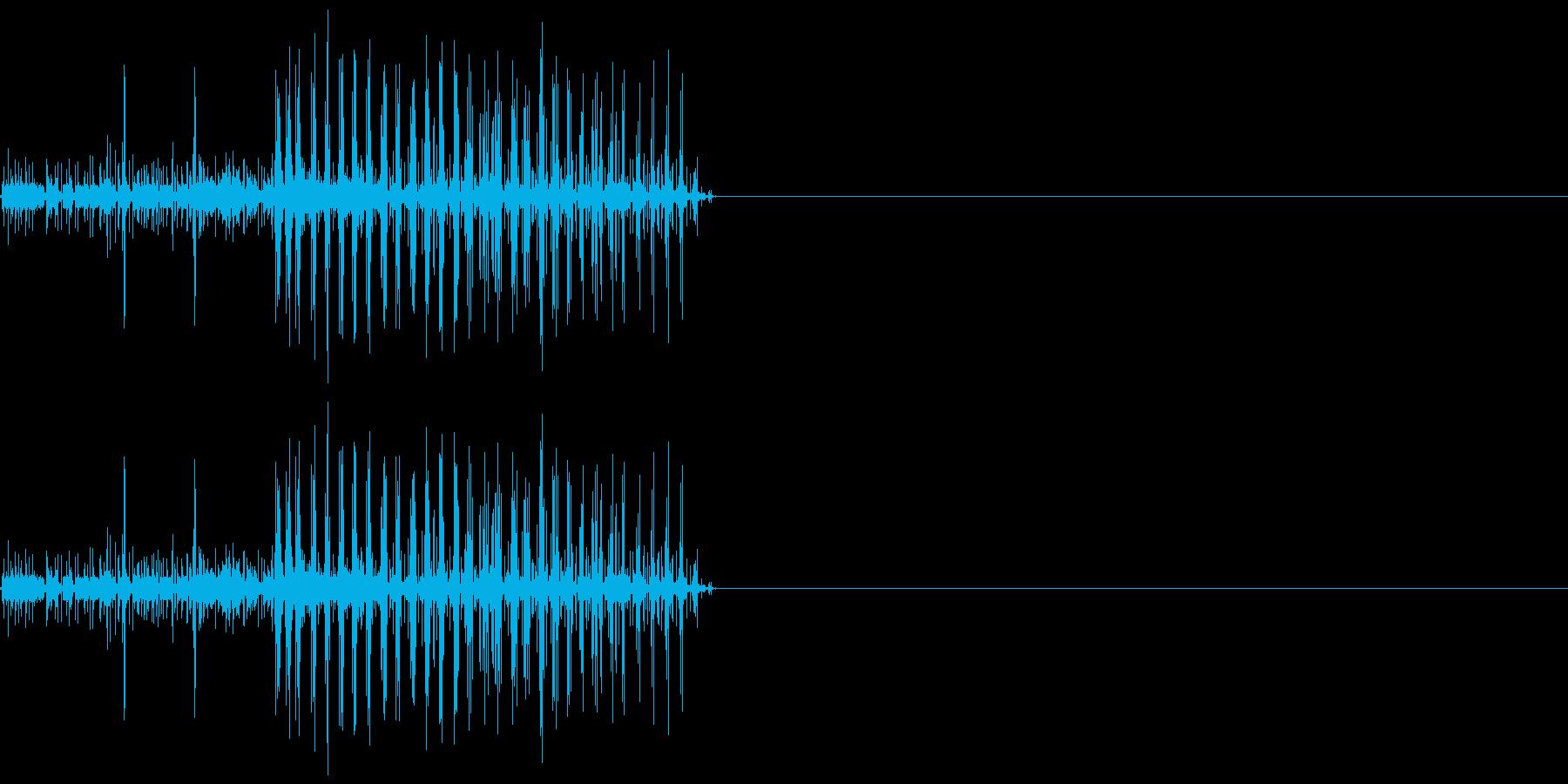 ビリリ! 短い電撃音4の再生済みの波形