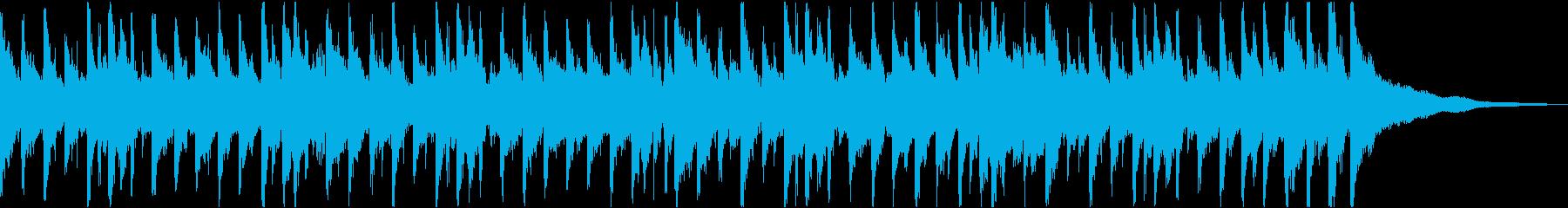 告知やCMなどに使える明るく爽やかな曲の再生済みの波形
