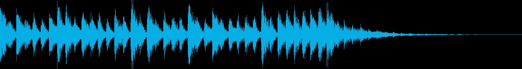 (ジングル)爽やか系ポップ調の再生済みの波形