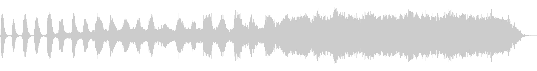 サスペンスフルなアンビエントの未再生の波形