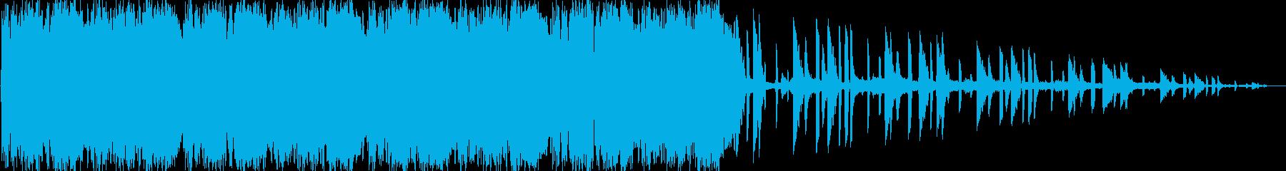 激しいリズムが特徴のロックの再生済みの波形