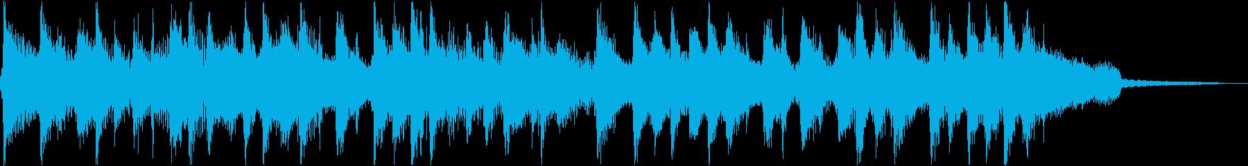 アニメ風の短いオープニング曲の再生済みの波形