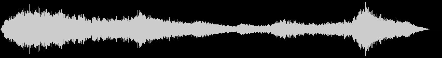 ゆっくりと変化するピッチのベルトーンの未再生の波形