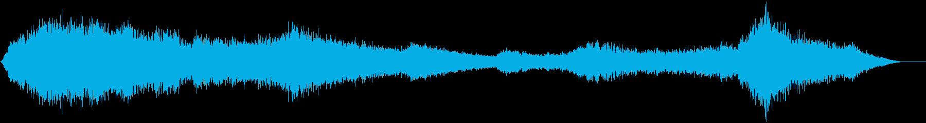 ゆっくりと変化するピッチのベルトーンの再生済みの波形