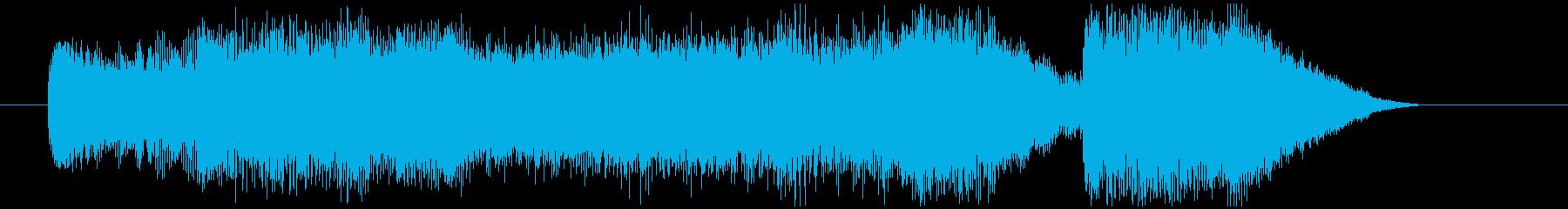 宇宙的な短めの重みのある15秒BGMの再生済みの波形