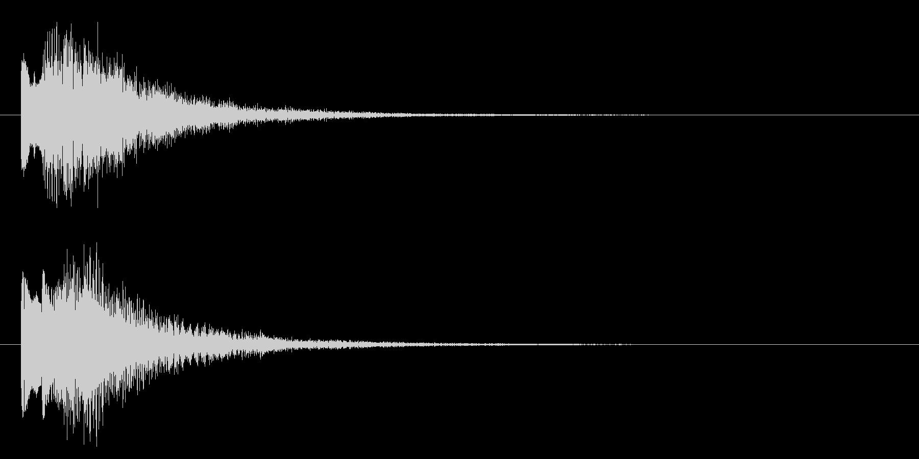 ニュースのテロップをイメージした音05の未再生の波形