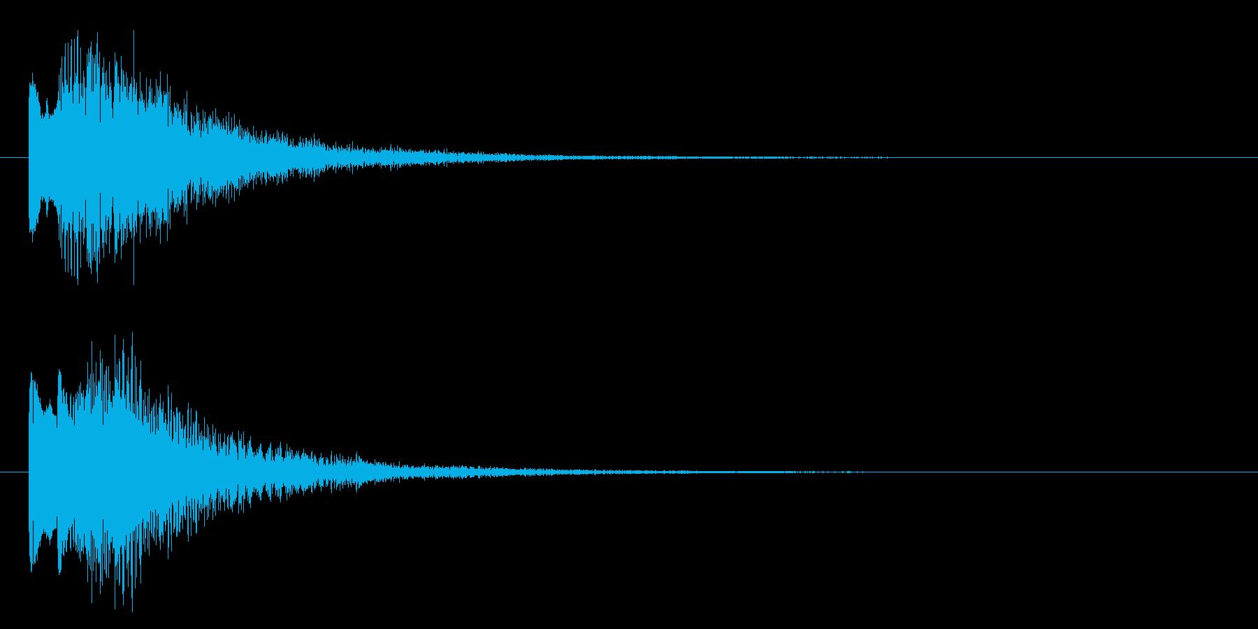 ニュースのテロップをイメージした音05の再生済みの波形
