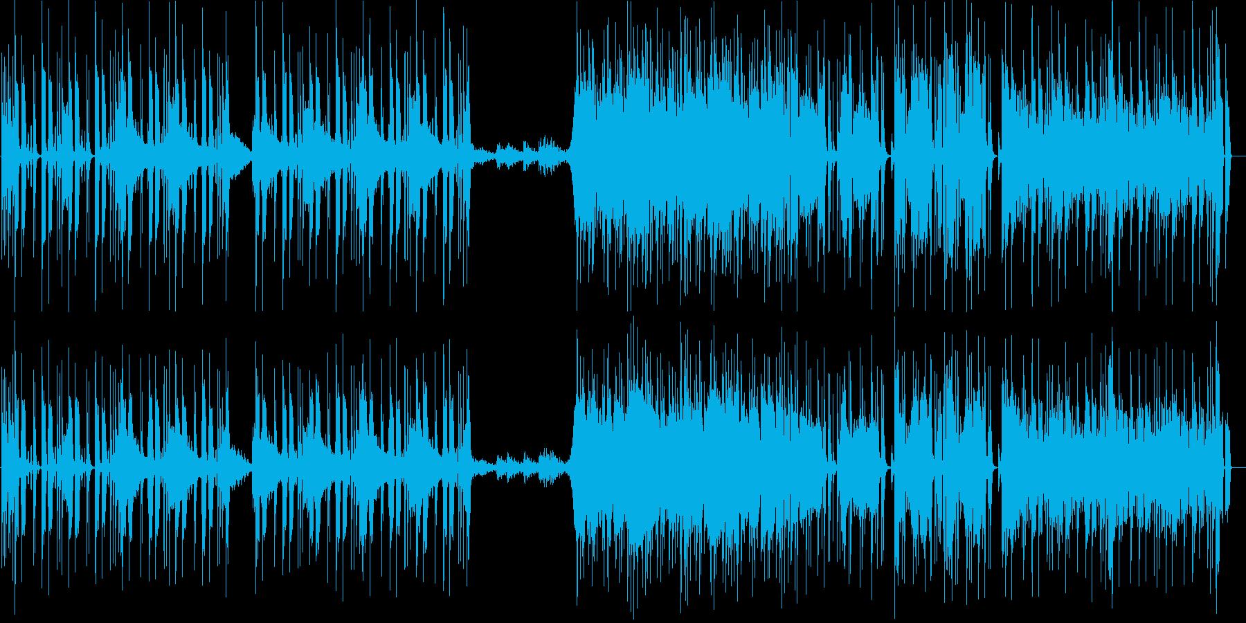 攻め立てる雰囲気のギターロックの再生済みの波形