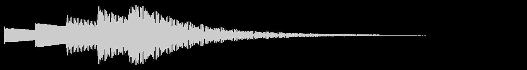ピンポンパンポンピン(お知らせ)下降の未再生の波形