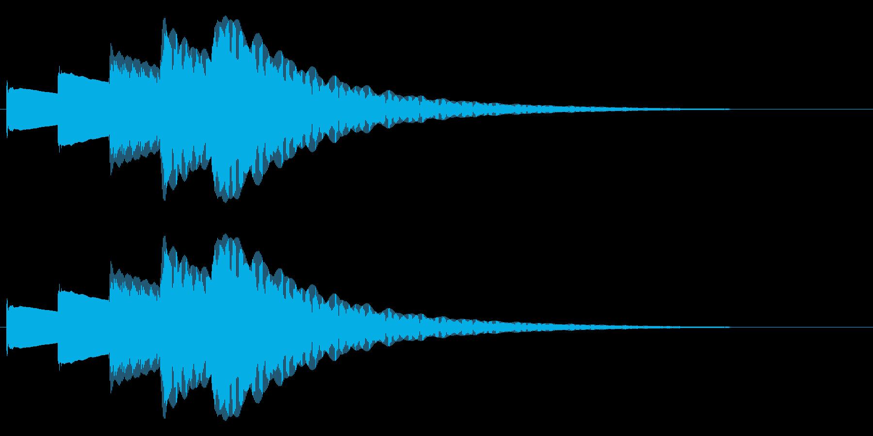 ピンポンパンポンピン(お知らせ)下降の再生済みの波形
