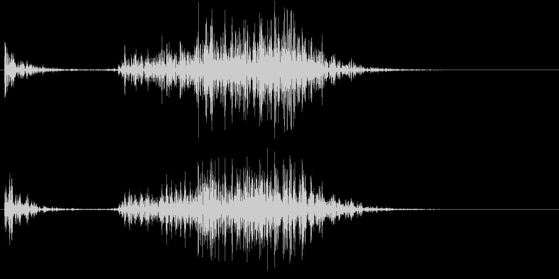 【生録音】ペンで書く音 机 10の未再生の波形