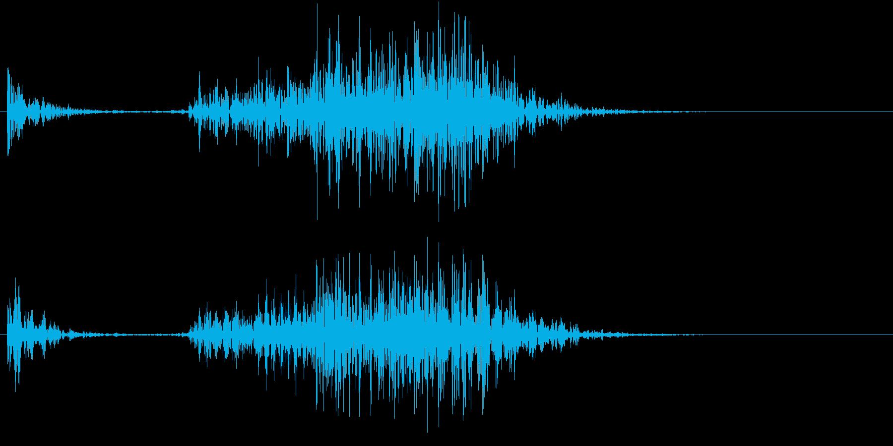 【生録音】ペンで書く音 机 10の再生済みの波形
