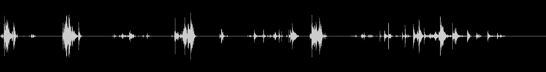 楽器スパナの動き多くのx4の未再生の波形