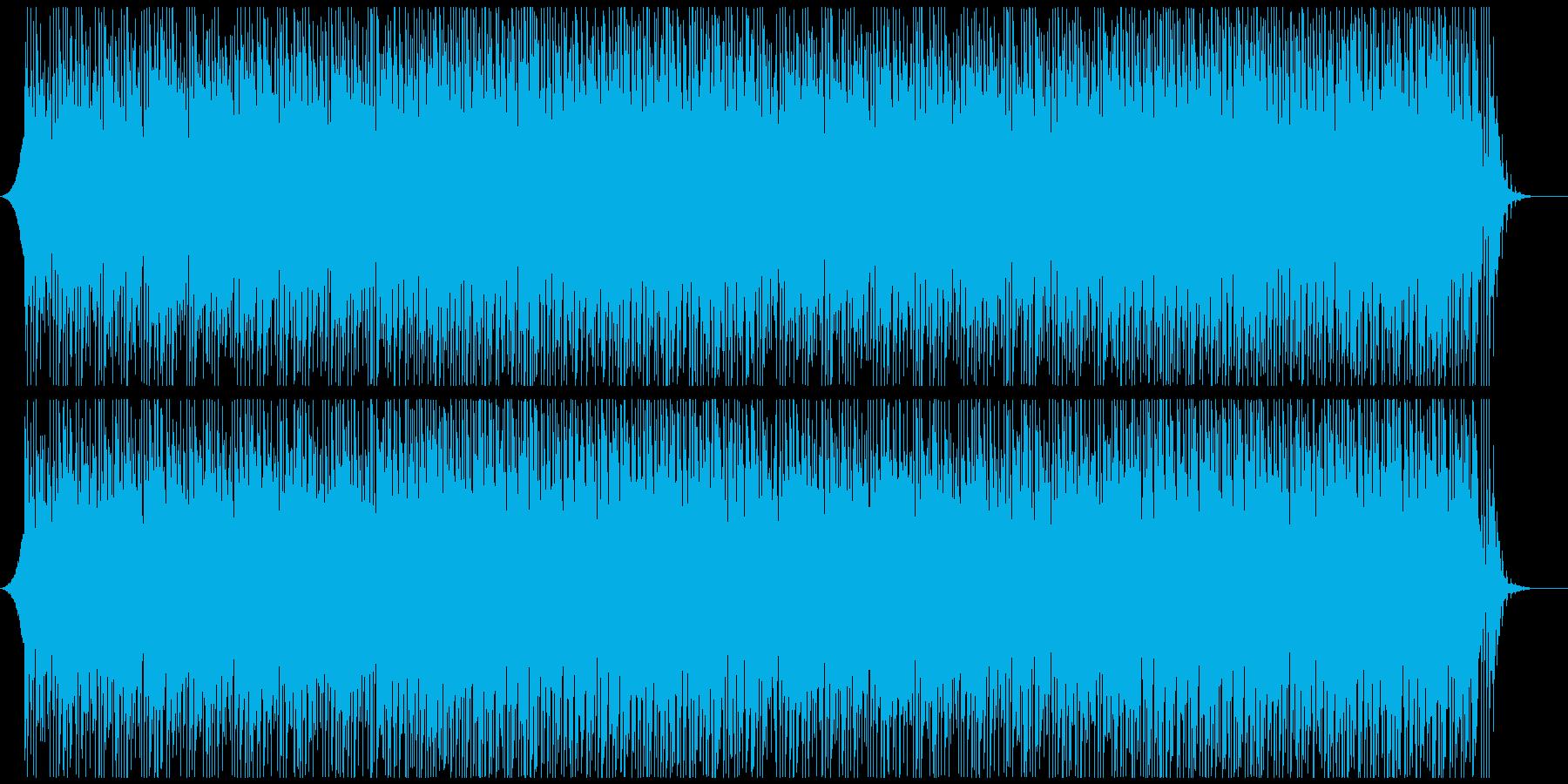爽やかオープニング映像に 軽快ポジティブの再生済みの波形