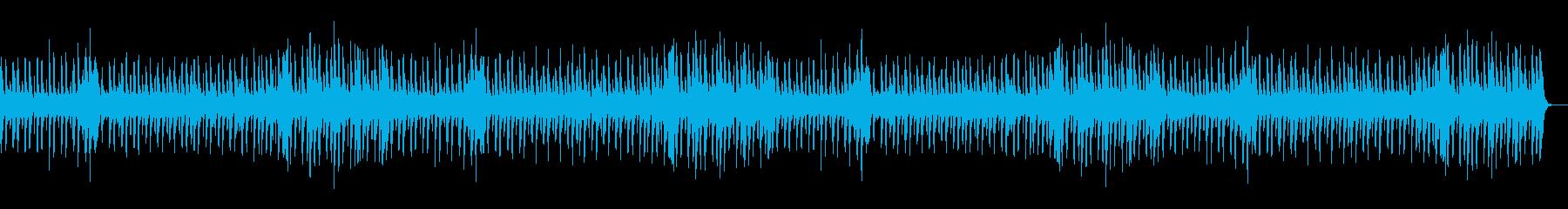 緊張感の走るピアノストリングスBGMの再生済みの波形