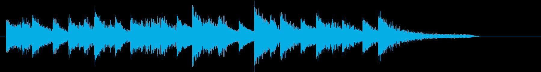 ポカポカ和音の穏やかジャズピアノジングルの再生済みの波形