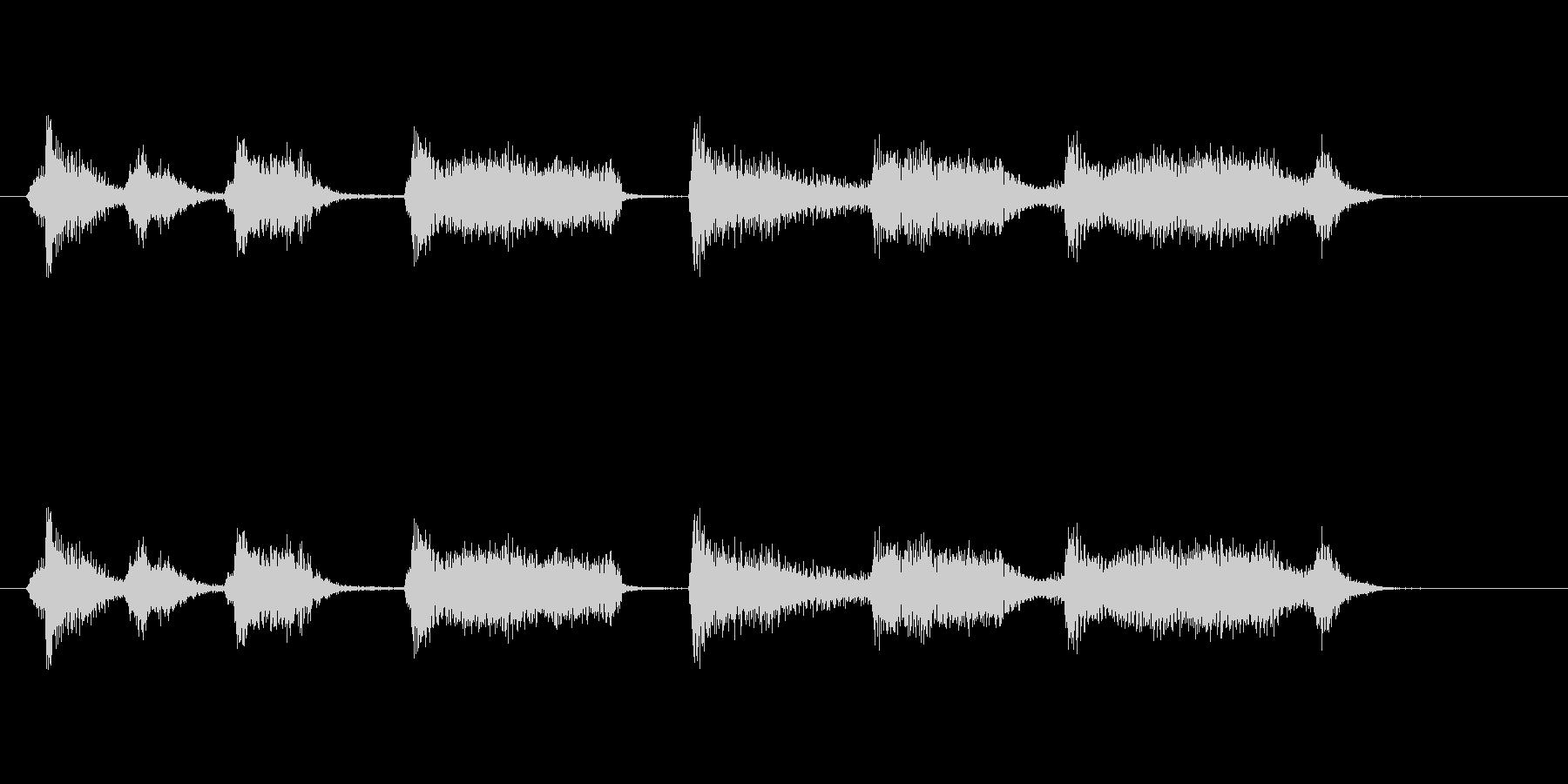 ボコーダー加工ボイスサンプルの未再生の波形