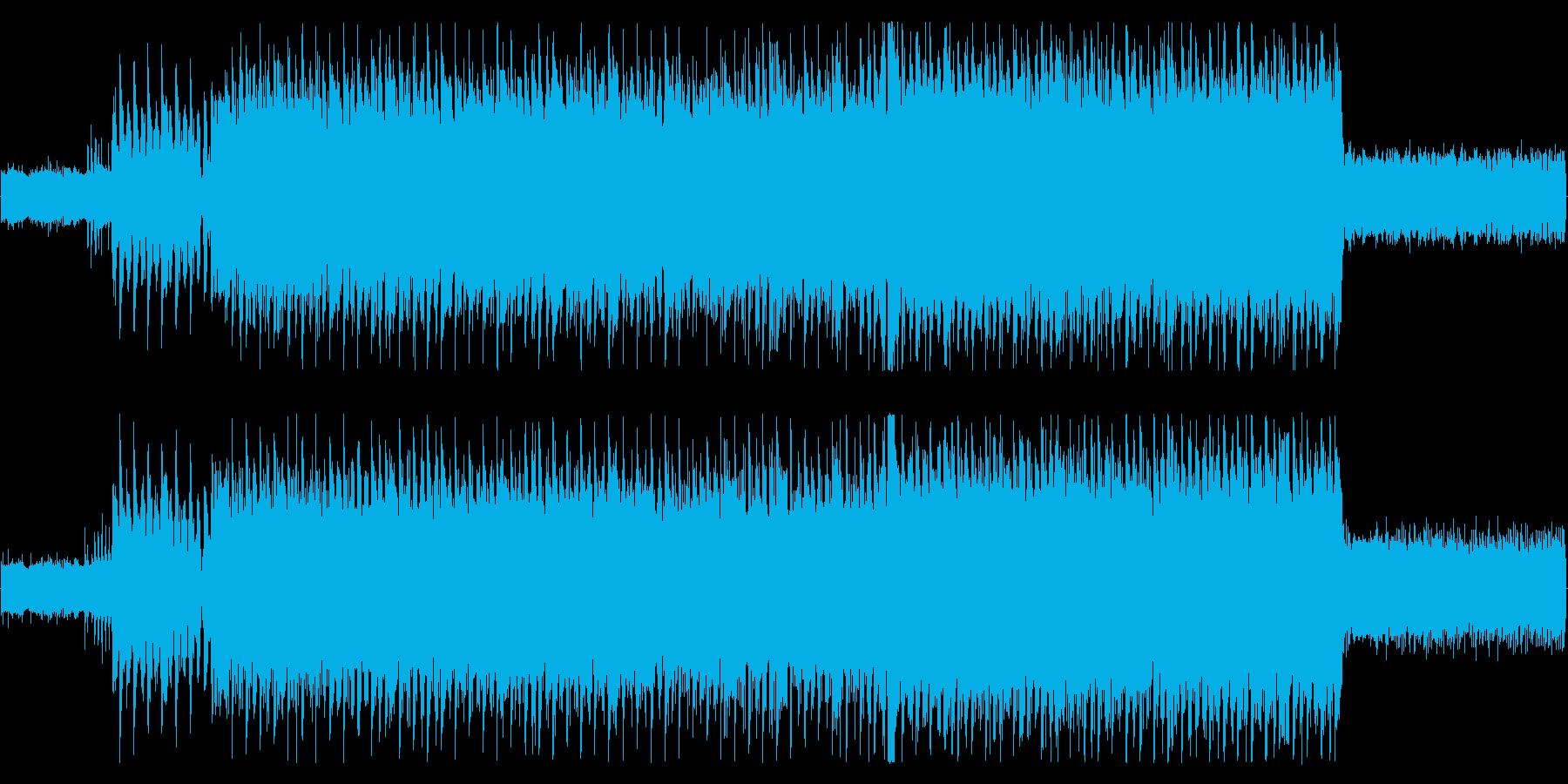 重低音効く情熱的なロックの再生済みの波形