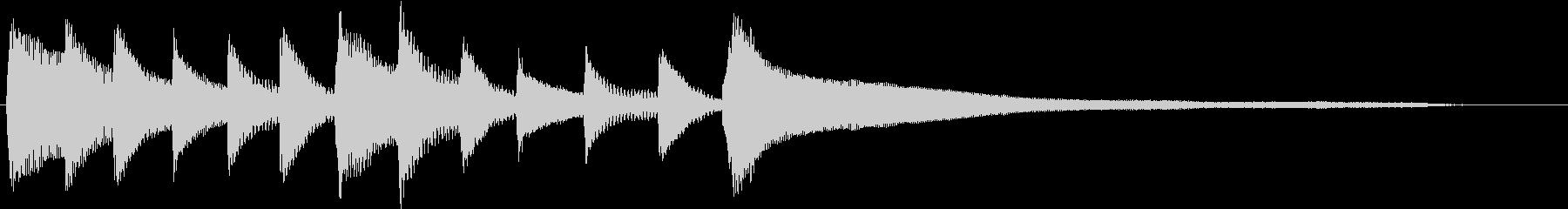 CMや映像に 優しいピアノのジングルの未再生の波形