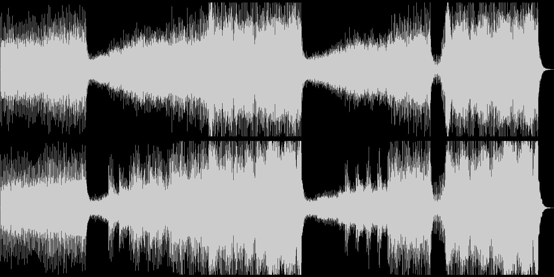 エレクトロなダンスミュージックの未再生の波形