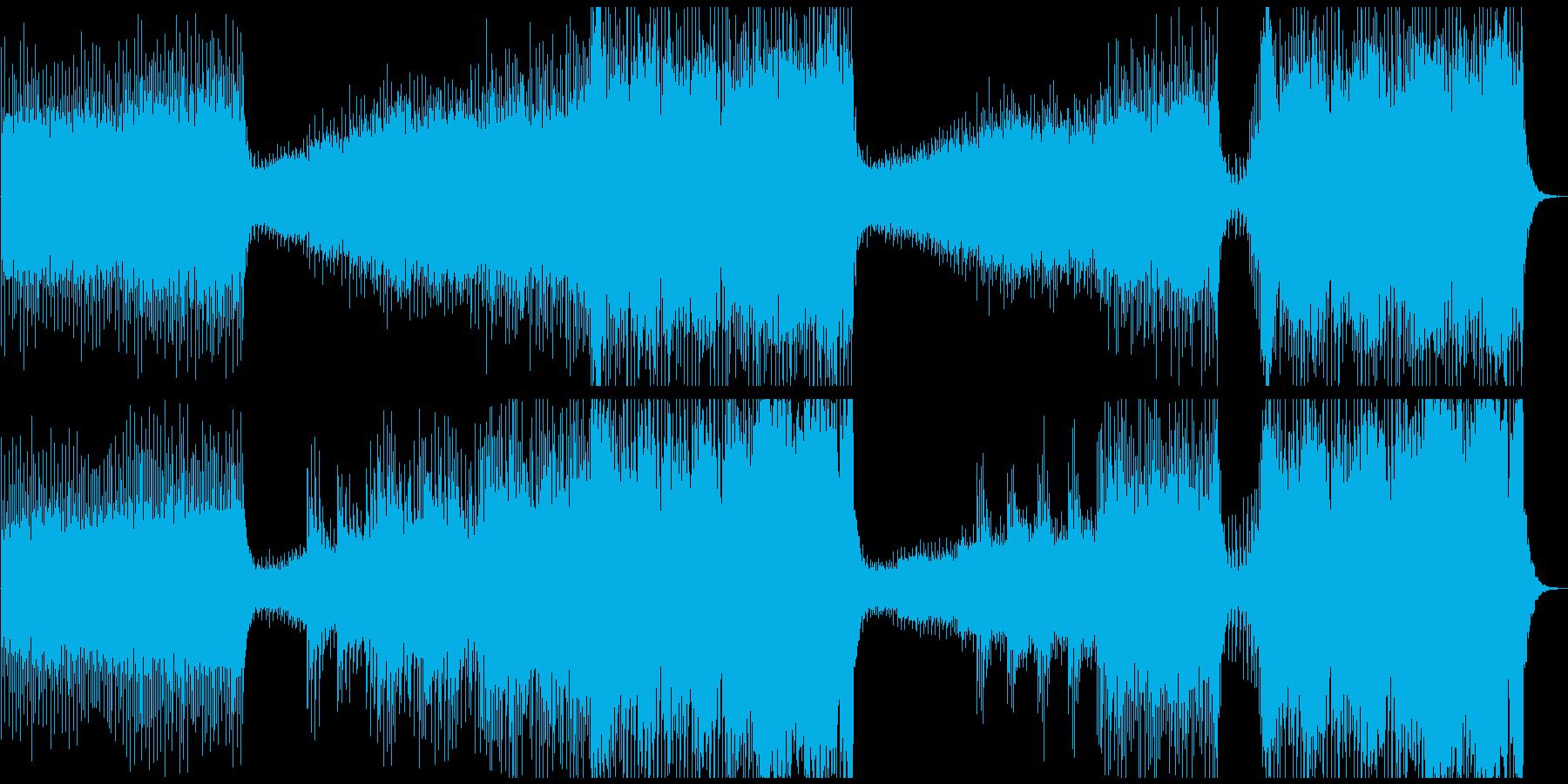エレクトロなダンスミュージックの再生済みの波形