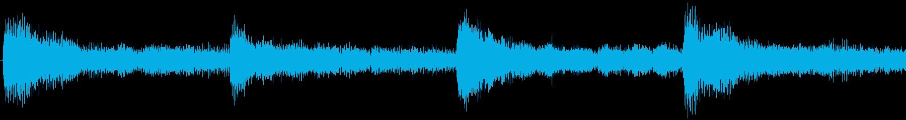 ハローウィン用のホラー曲-ループ4の再生済みの波形