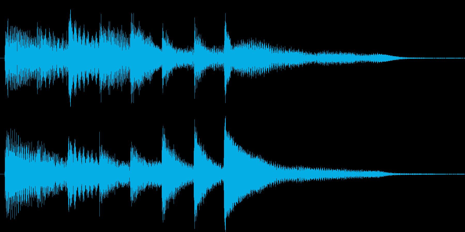 短いピアノ映像用ジングル2の再生済みの波形
