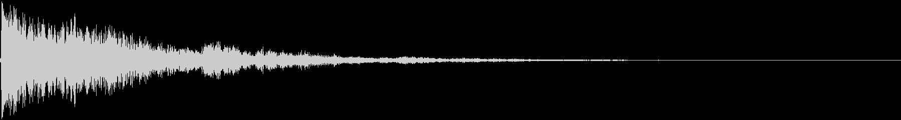 スマホアプリの決定音(ピーン!)の未再生の波形