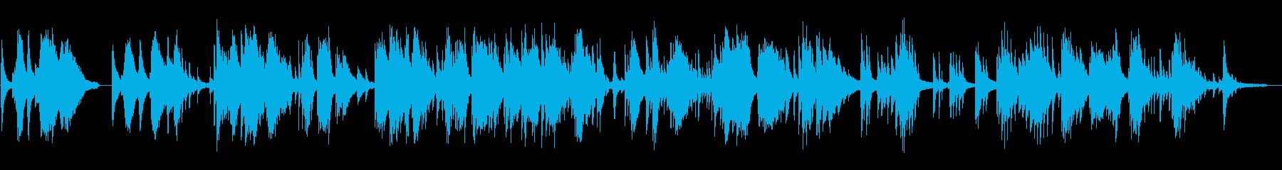 静かな雨の日のピアノの再生済みの波形