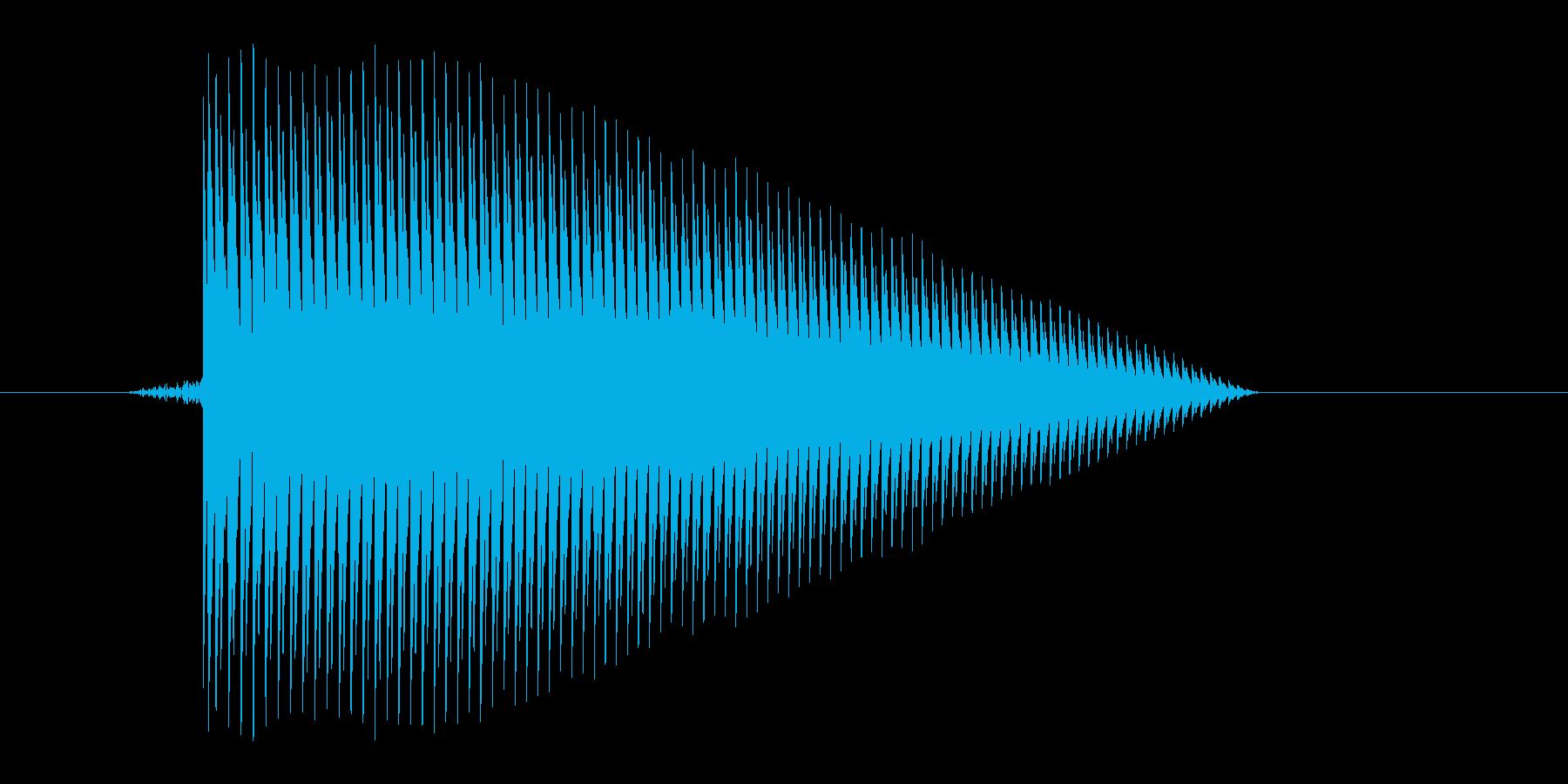 ゲーム(ファミコン風)ジャンプ音_041の再生済みの波形