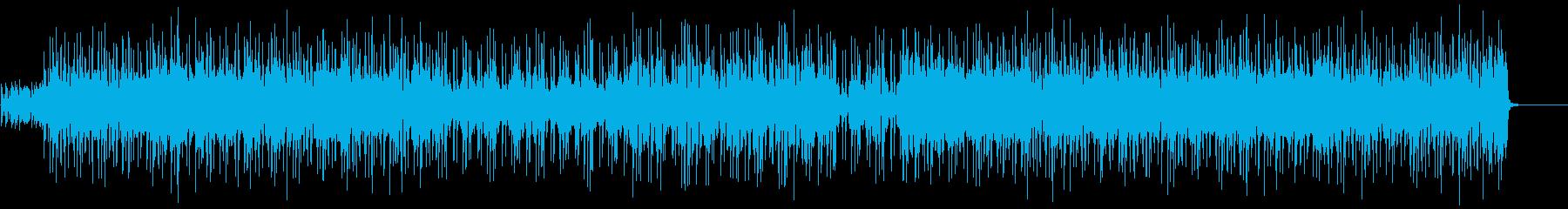 ブルージーでクールなアコギロックの再生済みの波形